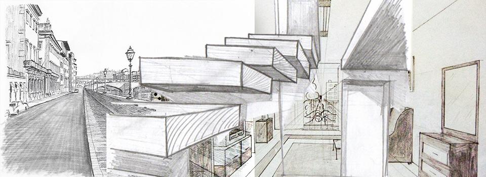 curso dibujo perspectiva dibujo con un punto de fuga, dibujo con dos puntos de fuga, clases de dibujo online