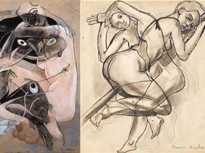 Composición surrealista al estilo Francis Picabia